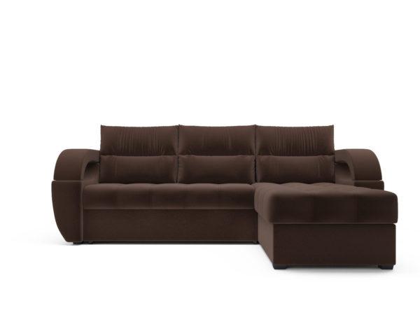 Угловой диван Мартинес (кордрой коричневый)