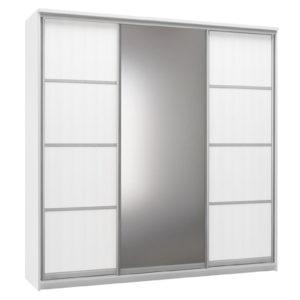 Шкаф-купе трехдверный Верона 240 см (белый/зеркало)