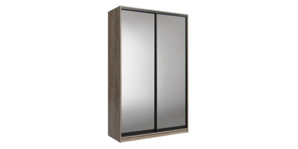 Шкаф-купе двухдверный Лофт 180 см (дуб крафт серый/зеркальный)
