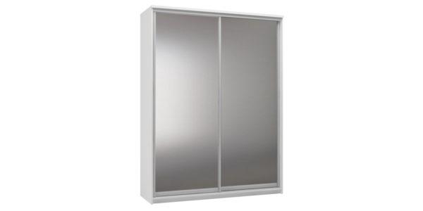 Шкаф-купе двухдверный Верона 180 см (белый/зеркальный)
