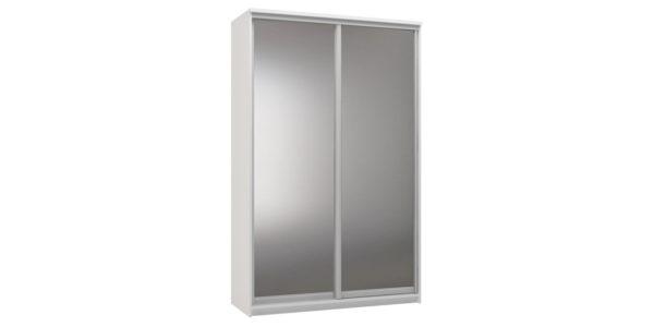 Шкаф-купе двухдверный Верона 150 см (белый/зеркальный)