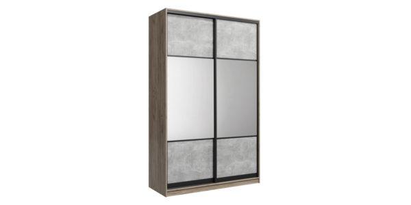 Шкаф-купе двухдверный Лофт 180 см (дуб крафт серый/бетон серый/комбинированный)