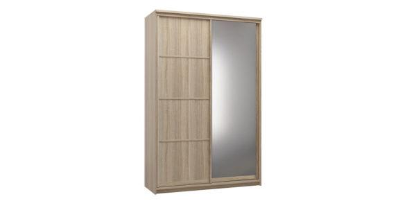 Шкаф-купе двухдверный Верона 150 см (дуб сонома/зеркало)
