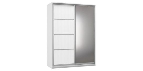Шкаф-купе двухдверный Верона 180 см (белый/зеркало)