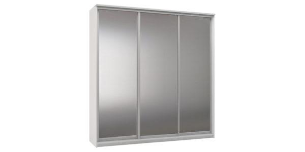 Шкаф-купе трехдверный Верона 223 см (белый/зеркальный)