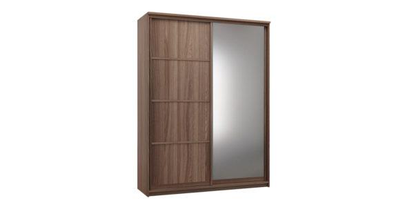 Шкаф-купе двухдверный Верона 180 см (ясень шимо/зеркало)