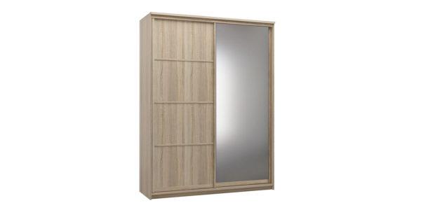 Шкаф-купе двухдверный Верона 180 см (дуб сонома/зеркало)