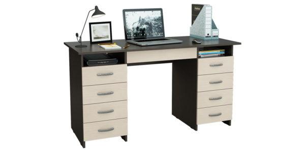Письменный стол Харви вариант №6 (венге/дуб молочный)